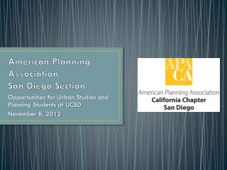 American Planning Association San Diego Section