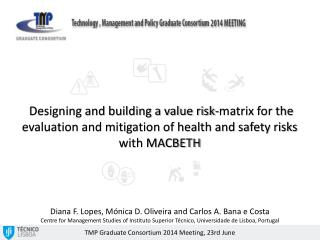 Designing and building a value risk-matrix for the evaluation and mitigation of health and safety risks with MACBETH