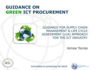 GUIDANCE ON GREEN  ICT  PROCUREMENT
