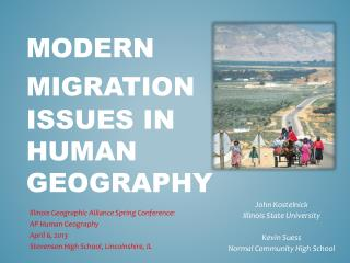 Modern Migration Issues in  Human Geography