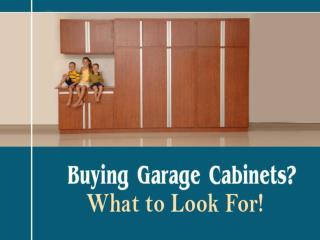 Buying Tips for Garage Cabinets in Denver