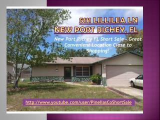 new port richey fl short sale! 5111 lillilea ln