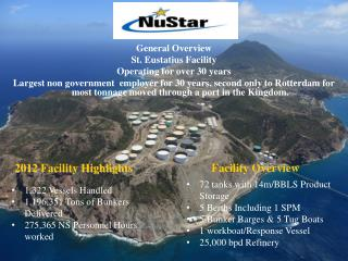 General Overview St. Eustatius Facility  Operating for over 30 years
