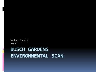 Busch Gardens Environmental Scan