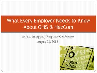 What Every Employer Needs to Know About GHS & HazCom