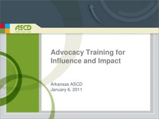 Advocacy Training for Influence and Impact