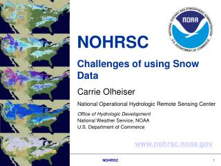NOHRSC  Challenges of using Snow Data
