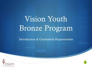 Vision Youth  Bronze Program