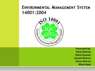 Environmental Management System 14001:2004