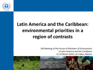Latin America and the Caribbean: environmental priorities in a region of contrasts