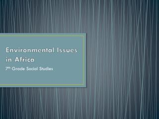 Environmental Issues in Africa