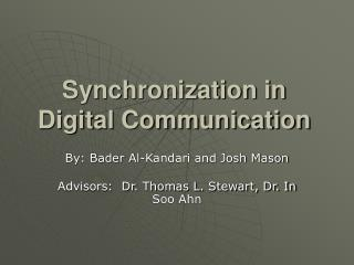 synchronization in digital communication