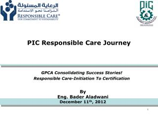 PIC Responsible Care Journey