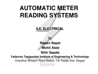 AUTOMATIC METER READING SYSTEMS