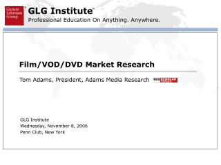 Film/VOD/DVD Market Research