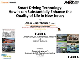 Smart Driving Technology: How it can Substantially Enhance the Quality of Life in New Jersey by