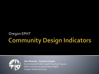 Community Design Indicators