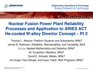 Nuclear Fusion Power Plant Reliability Processes and Application to ARIES ACT He-cooled W-alloy  Divertor Concept – Pt