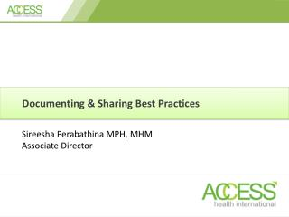 Documenting & Sharing Best Practices