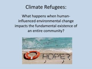 Climate Refugees: