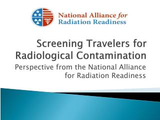 Screening Travelers for Radiological Contamination