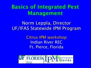 Basics of Integrated Pest Management