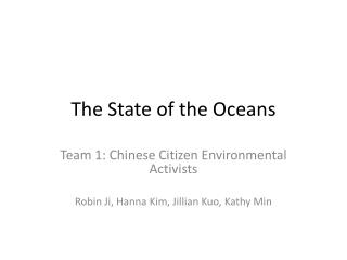 The State of the Oceans