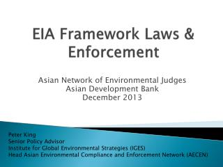 EIA Framework Laws & Enforcement