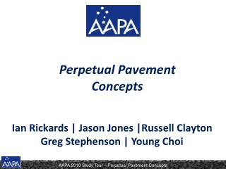 Perpetual Pavement Concepts