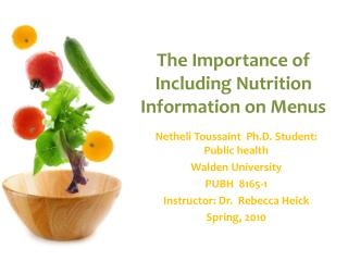The Importance of Including Nutrition Information on Menus