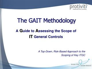 The GAIT Methodology