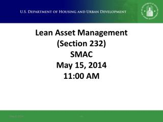 Lean Asset Management (Section 232) SMAC May 15,  2014 11:00 AM