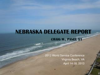 Nebraska Delegate Report Craig M., Panel 51