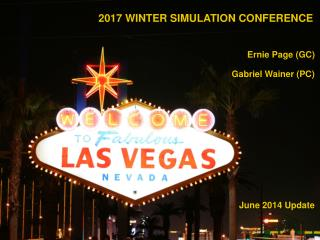 2017 WINTER SIMULATION CONFERENCE