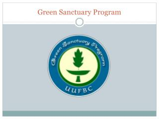 Green Sanctuary Program