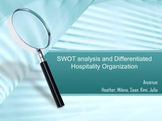 SWOT analysis and Differentiated Hospitality Organization
