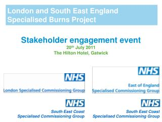 London and South East England Specialised Burns Project