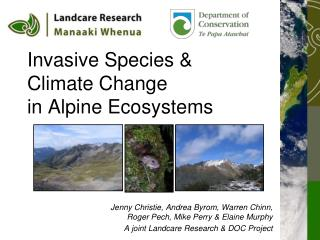 Invasive Species & Climate Change in Alpine Ecosystems