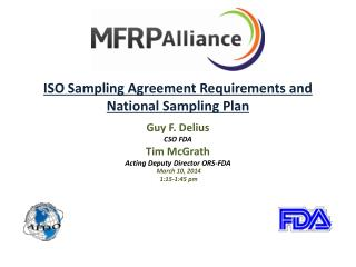 ISO Sampling Agreement Requirements and National Sampling Plan