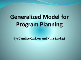 Generalized Model for Program Planning