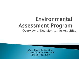 Environmental Assessment Program