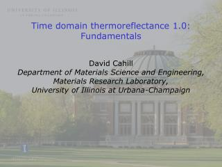 Time domain thermoreflectance 1.0: Fundamentals