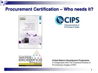 Procurement Certification – Who needs it?