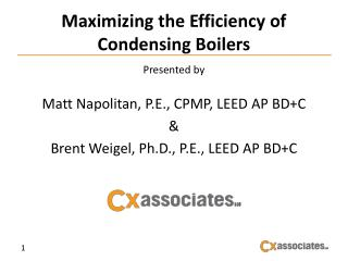 Maximizing the Efficiency of Condensing Boilers