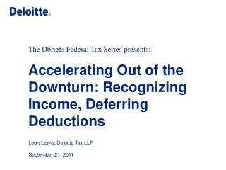 The Dbriefs Federal Tax Series presents: