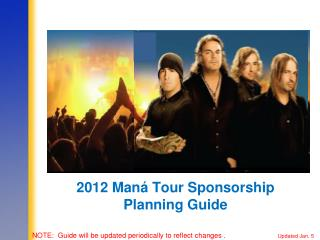2012 Maná Tour Sponsorship Planning Guide