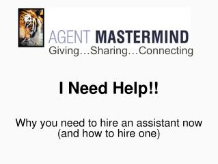 I Need Help!! Why you need to hire an assistant now (and how to hire one)