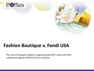 Fashion  Boutique  v. Fendi USA
