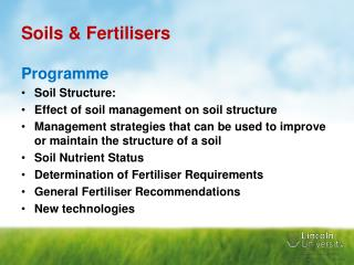 Soils & Fertilisers