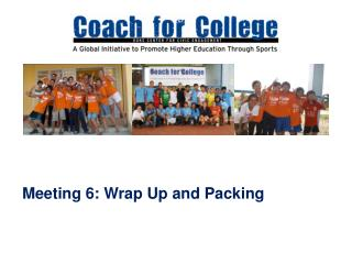 Meeting 6: Wrap Up and Packing